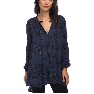 Free People Tunic Snap Out Of It Rayon Tree Swing